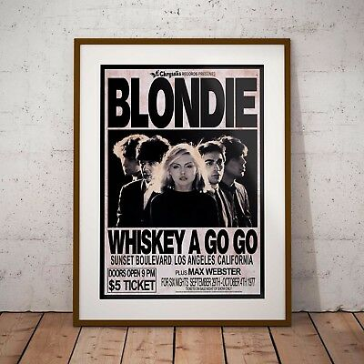 Blondie Early Concert Print or Poster Available Three Sizes NEW 2017 Exclusive