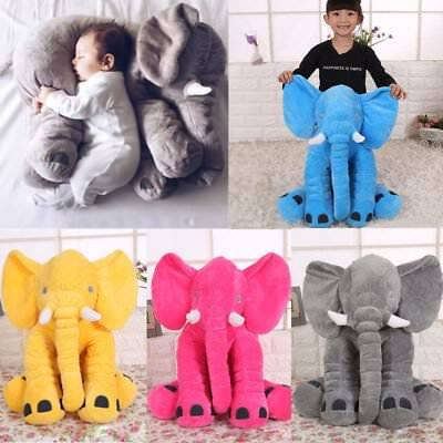 Big Elephant Pillow Cushion Stuffed Doll Toy Baby Kids Soft Plush Lumbar Nose LN