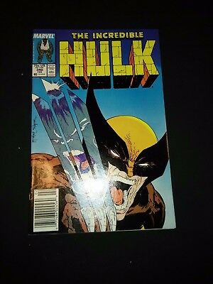 THE INCREDIBLE HULK #340 (Classic Todd McFarlane Wolverine Cover) Marvel 1987