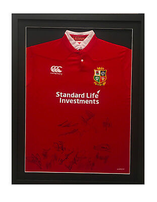 British & Irish Lions Signed Framed Shirt 2017 + Photo Proof *see Players Sign*