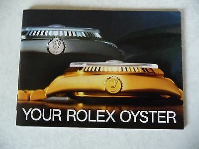 Genuine 'Your Rolex Oyster' booklet guide dated March 1987.