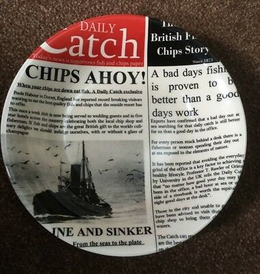 FISH & CHIPS by POOLE POTTERY BOWL - Great Fun (2)