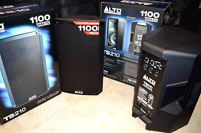 """Pair of Alto TS210, Active,1100W, 10"""" ,PA/DJ Speakers,Boxed,Little Used. Ex.Cond"""