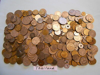 World Coin Lot:  400 Foreign Coins from Thailand