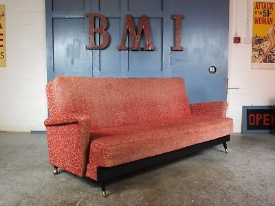 Mid Century Vintage 1950s 60s Dansette Sofa Bed Settee Couch Danish Rockabilly