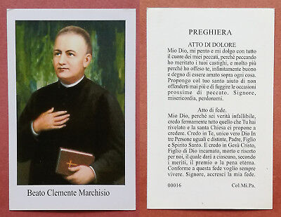Santino Holy Card: Beato Clemente Marchisio