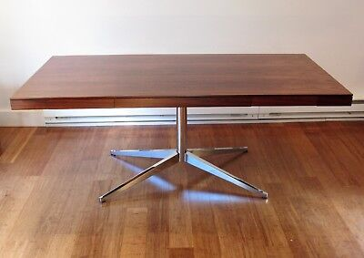 Vintage Florence Knoll Partners Desk or Executive Table in Rosewood, circa 1960s
