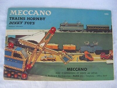Ancienne revue, catalogue meccano. Trains Hornby. Dinky Toys 1959