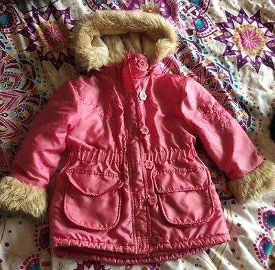 Girls Pink Hooded Coat Age 4-5years