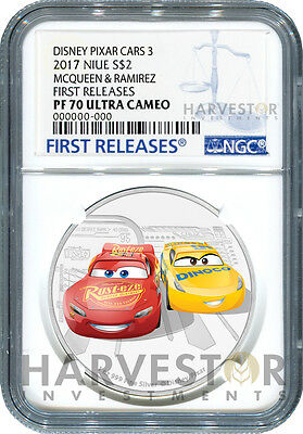 2017 Disney Pixar Cars 3: Mcqueen & Ramirez - Ngc Pf70 First Releases - With Ogp