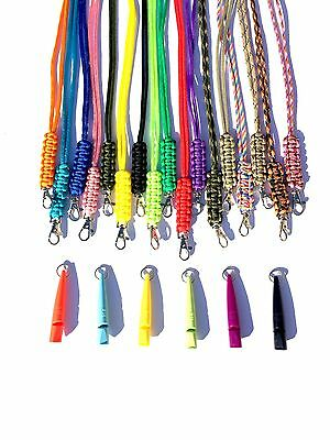 Acme 210.5 Dog Whistle & Cobra Stitch Lanyard - Gun Dog Training VARIOUS COLOURS