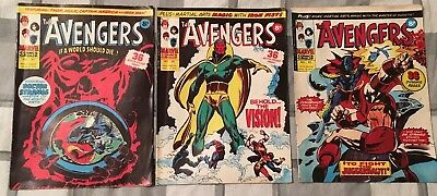 The Avengers x 3 Issues #81,82,83! Uk Marvel! 1975!