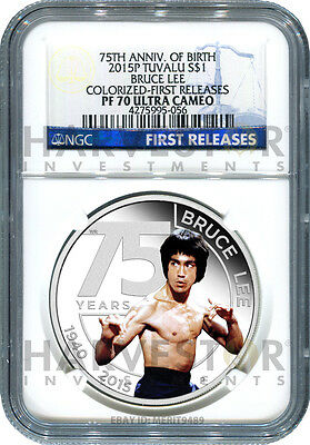 2015 Silver Bruce Lee 75Th Anniversary - Ngc Pf70 First Releases - Only 33 Exist