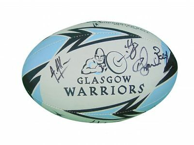 Glasgow Warriors Rugby Signed Ball 2017+Photo Proof*see The Players Sign Ball*