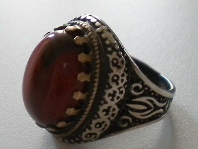 chevaliere/bague/ argent local/agate/T56