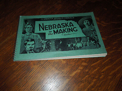 Nebraska in the Making History Book Omaha World Herald 1939 Archival Pamphlet