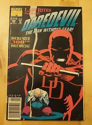 Daredevil Vol 1 #300 cents copy Jan 1992 Marvel comic
