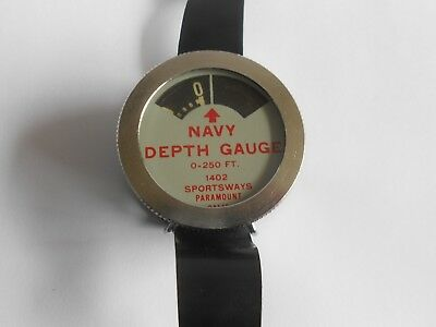 Vintage Sportsways Navy Diver's Depth Gauge But Untested