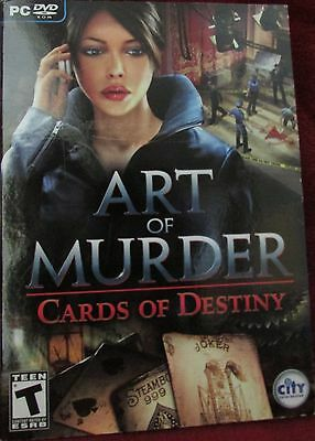 Art of Murder - Cards Of Destiny - PC Game with DVD Rom - Very Good Condition!