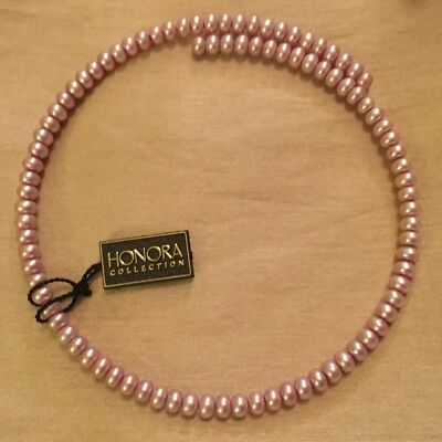 Honora Pearl Pale Pink Coil Necklace