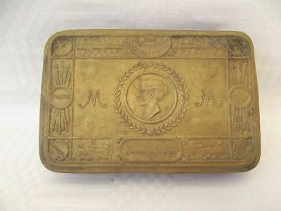 Original Antique Ww1 Brass Princess Mary 1914 Christmas Tin