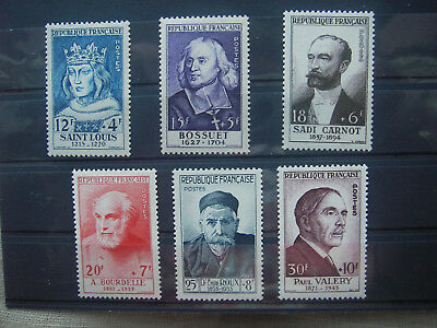 1954   timbre france   yt n° 989/994  neuf **