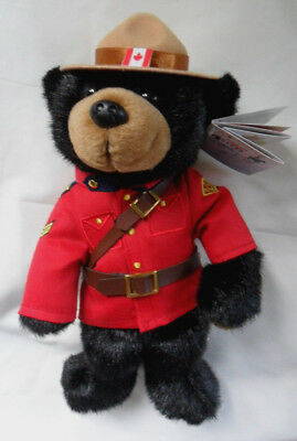 "11"" Royal Canadian Mounted Police Bear Stuffed Soft Toy Brand New With Tags"