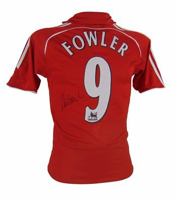 Robbie Fowler Signed Liverpool Football Shirt+Photo Proof*see Fowler Sign Shirt*