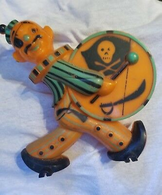 Vintage rosen halloween pirate drummer candy container bank rare