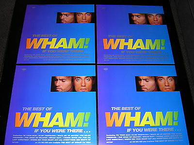 """4 Wham! Promotional 12"""" X 12"""" Cards - Best Of Wham!"""