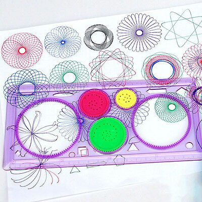 1x Spirograph Geometric Ruler Drafting Tools Stationery Drawing Toys Set FO