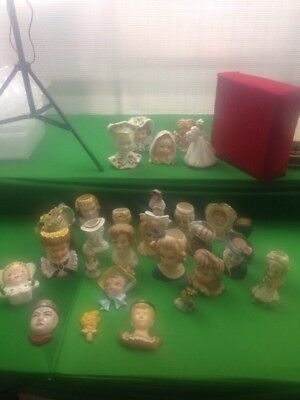 DAMAGED Lot Of 29 Lady Head Vases Planters And Figurines