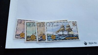 st lucia stamps mhog m1038