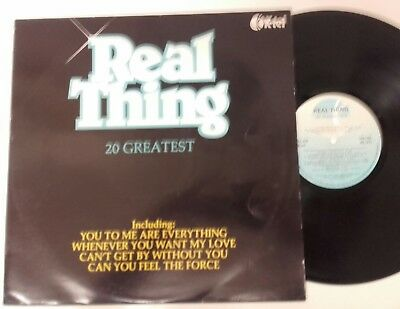 The Real Thing 20 Greatest Hits 1980 Vinyl Lp Record K-Tel Ex