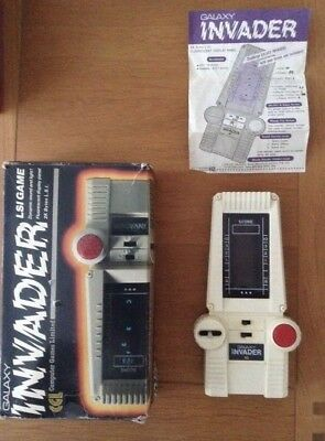 1978 CGL Galaxy Invader Handheld Game Boxed Instructions Vintage Retro