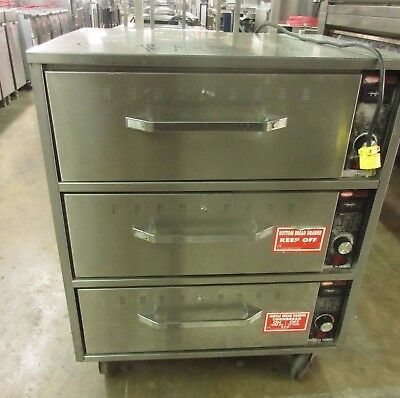 Hatco Triple Stack HDW-3 Three Drawer Food Warming Holding Cabinet w/ Casters
