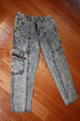 Vintage Mens 89s 90s Aid Washed Jeans 34X33 FREE SHIPPING