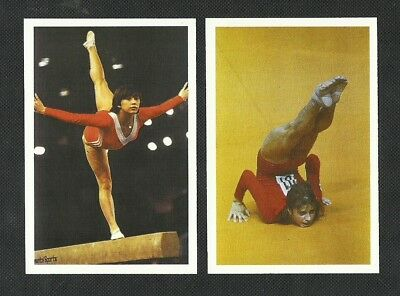Gymnastics - Olga Korbut & Nelli Kim - Bbc Question Of Sport Cards