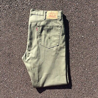 Levi's 511 Red Tab Jeans 40 Inch Waist 32 Leg In Olive Green