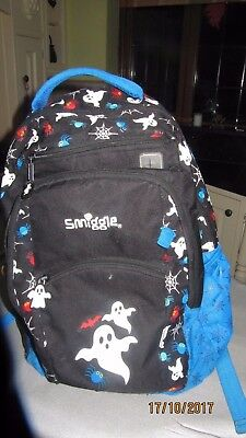Smiggle boys back pack with ghost theme.  Lunch bag included. Great condition