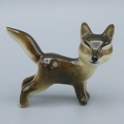"Vintage Ceramic Fox Figurine Woodland Forest Animal California Pottery? 2"" Tall"