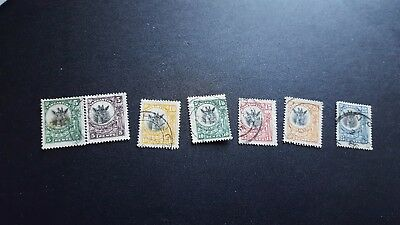 tanganika stamps scott 10,10a to 17 used scv 16.00 m1048