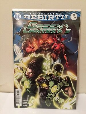 DC Rebirth Green Lanterns  #1  SOLD OUT Rare Boarded/ Bagged