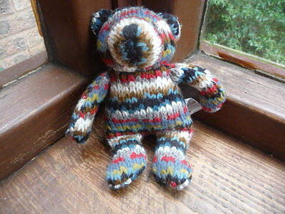 past  times  knitted  bear  6  inch