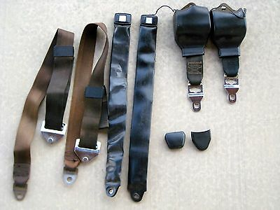 Citroen DS / iD front seat belts with electronic signals / factory 3 piece belts