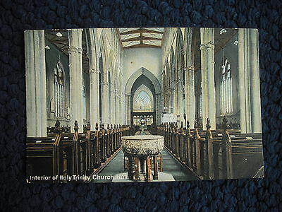 Postcard Interior Of Holy Trinity Church, Hull, Yorkshire