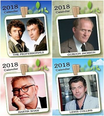 The Professionals Martin Shaw Lewis Collins Gordon Jackson 2018 Desktop Calendar