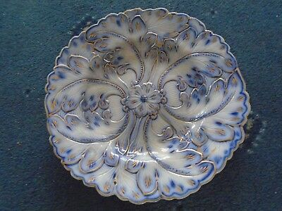 beautiful old Blue & gold plate 22.5cm