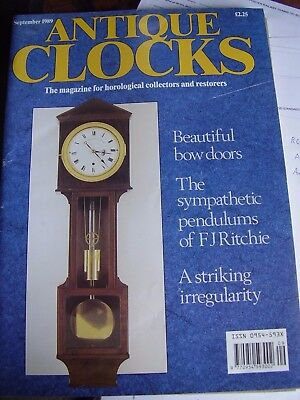 Antique Clocks Mag September 1989 Joseph Butterworth Scottish Longcase Clocks