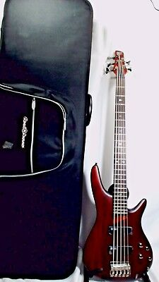 Ibanez SR505 5-String Active Pickups Bass Guitar with Hard Case